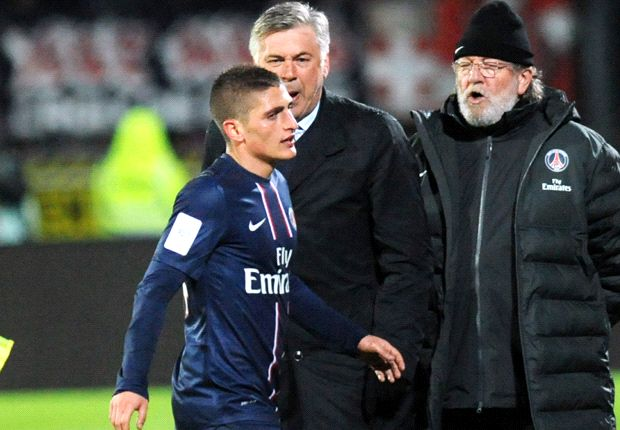 Verratti vital to PSG future, says Ancelotti