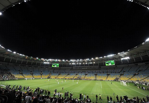 The recently renovated Maracana Stadium