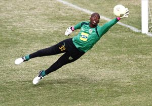 Goalkeeper Nkosingiphile Gumede of Golden Arrows