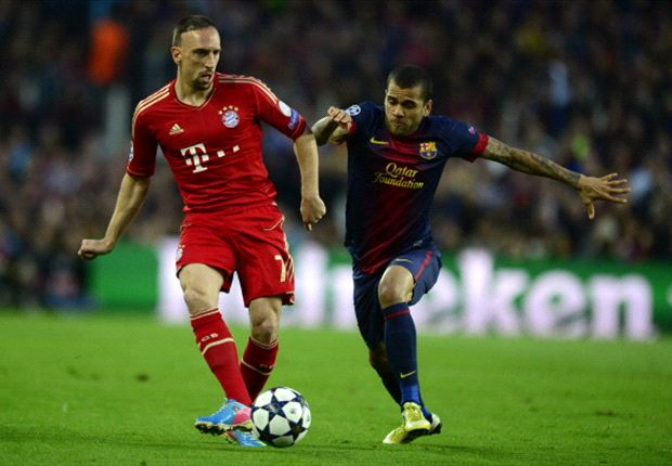 Immer ein brisantes Duell: Ribery gegen Dani Alves