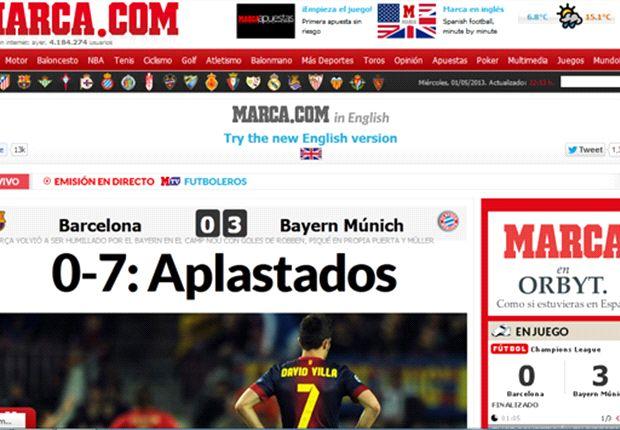 Las reacciones de la prensa mundial tras la caída del Barcelona