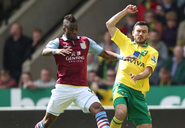 Norwich 1-2 Aston Villa: Agbonlahor double caps Lambert's happy Carrow Road return