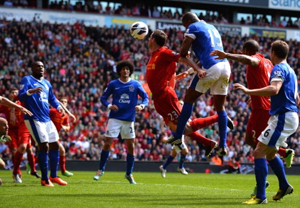 Distin disappointed by disallowed goal in Everton derby draw with Liverpool