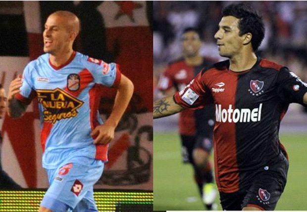 Darío Benedetto y Nacho Scocco, las cartas de gol de Arsenal y Newell's.