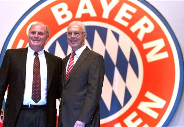 Wegen Steuerhinterziehung unter Verdacht - Uli Hoeneß, hier mit Franz Beckenbauer