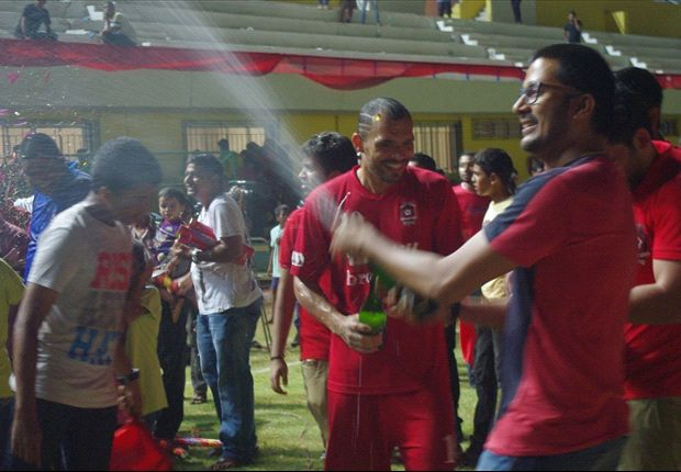 Pictorial: Churchill Brothers celebrating their I-League title