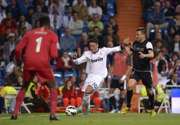 Madrid tegen negen man te sterk voor Málaga