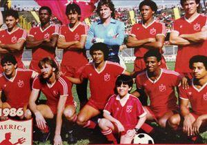 7) Corporación Deportiva América de Cali: 322 puntos en 196 partidos jugados.