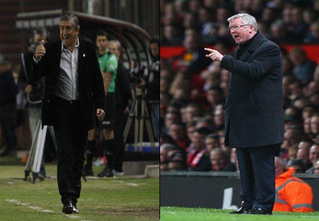 Sir Alex Ferguson y José S. Romero. Entrenadores exitosos, pese a la diferencia de recursos.