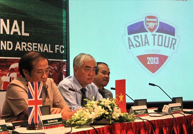 VFF memastikan kunjungan Arsenal terlaksana setelah merilis harga tiket