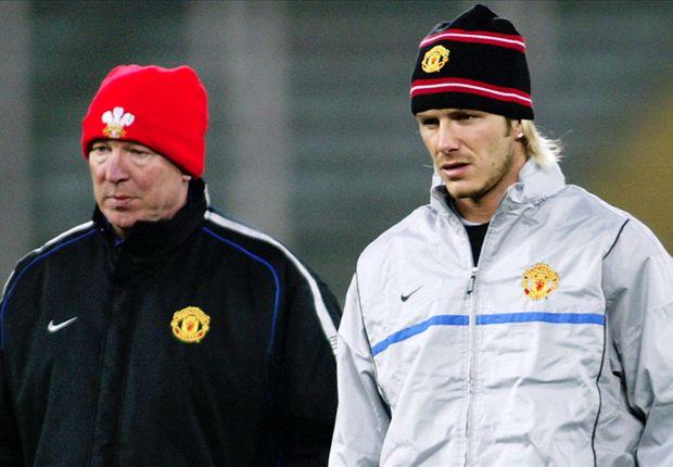 Kléberson rinde un doble homenaje a Sir Alex Ferguson y David Beckham