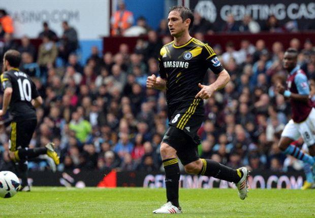 Premier League: Chelsea schlägt Villa, Lampard knackt Rekord