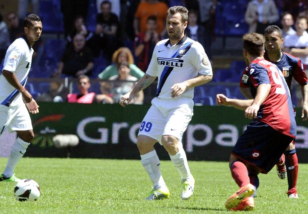 Cassano's time at Inter appears to be nearing an end
