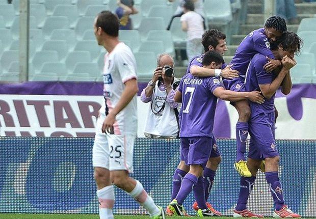 Palermo descendió tras caer ante la Fiorentina