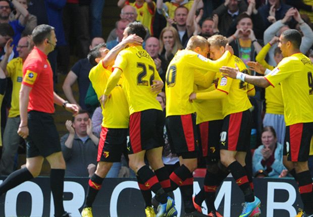 Watford 3-1 Leicester City (Agg 3-2): Last-gasp Deeney winner seals play-off final place for Hornets