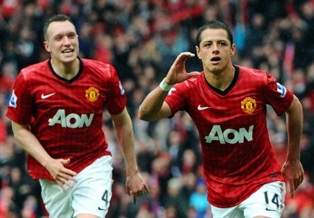 Chicharito scores in Sir Alex Ferguson's Old Trafford farewell