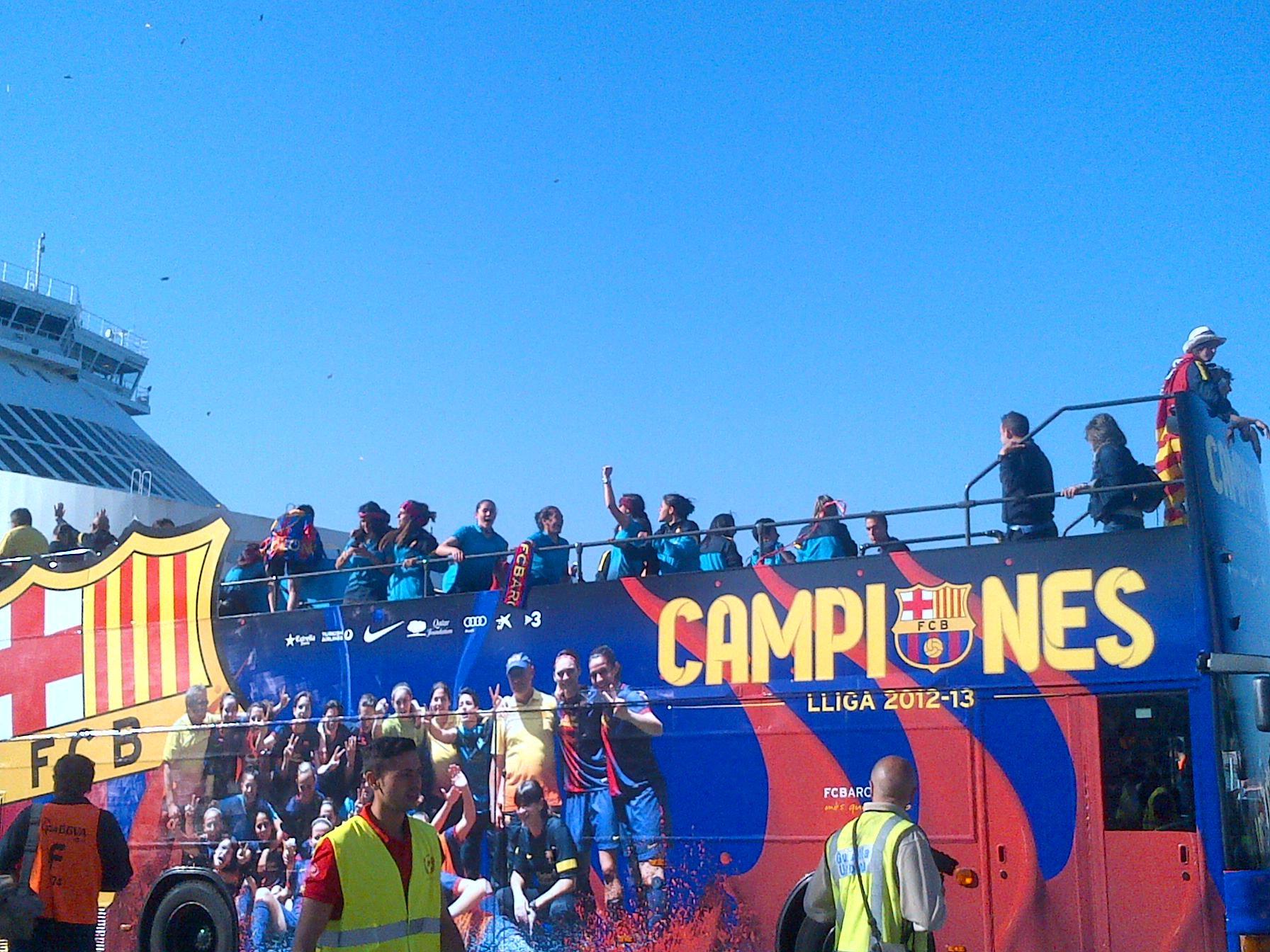 In Pictures: Barcelona's title party