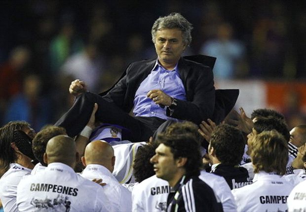 The man for the big occasion: Jose Mourinho has won nine out of 10 finals