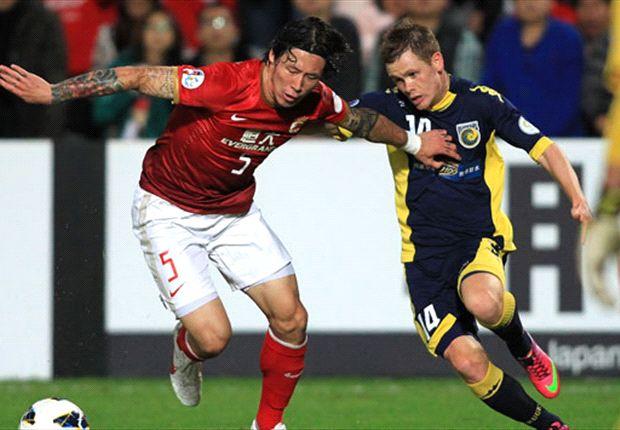 Central Coast Mariners 1-2 Guangzhou Evergrande: Muriqui goal earns away win