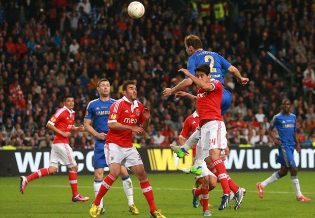 Benfica 1-2 Chelsea: Ivanovic heads dramatic winner to seal Europa League glory