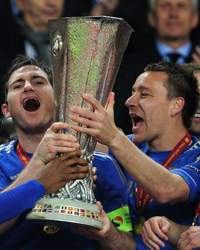 Europa League - Benfica and Chelsea, Frank Lampard and John Terry