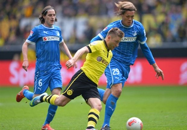 Borussia Dortmund 1-2 Hoffenheim: Two Salihovic penalties offer visitors chance of salvation in play-offs