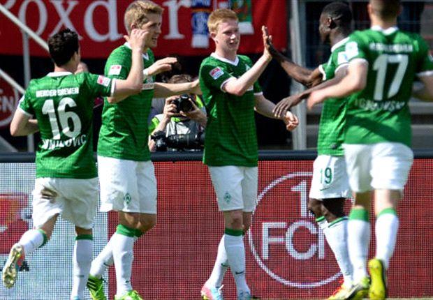 Werder Bremen feiert Schützenfest, Petersen schnürt Fünferpack