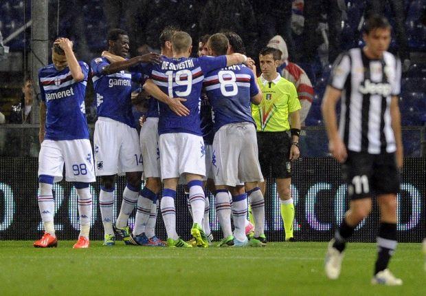 Sampdoria venció al campeón Juventus