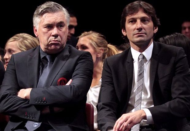 Carlo Ancelotti pulled this face all the way through recent PSG talks...probably