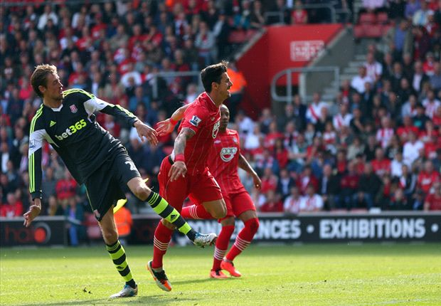 Southampton 1-1 Stoke: Lambert strike cancels out Crouch opener