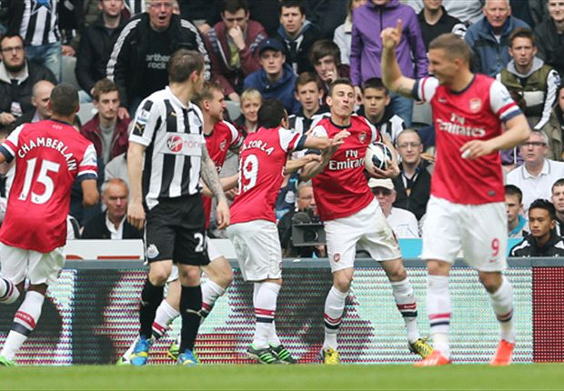 Newcastle 0-1 Arsenal: Koscielny strike secures Champions League football for Gunners