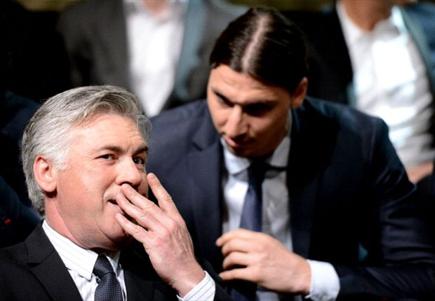 Ancelotti says Ibrahimovic has not requested a transfer