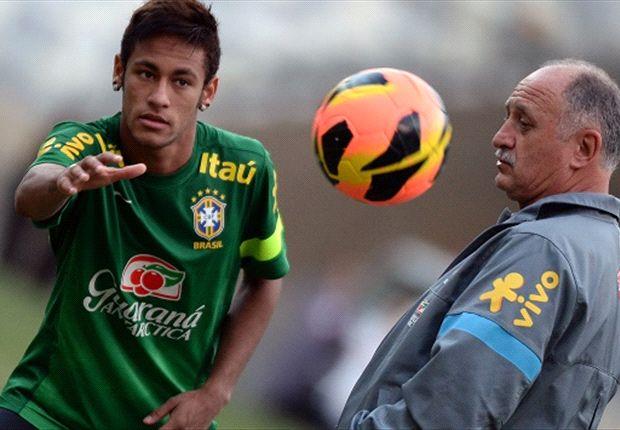 Scolari sieht in seinem Top-Star Neymar einen legitimen Messi-Nachfolger