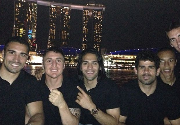 Falcao and Atletico Madrid enjoy a Singapore night out