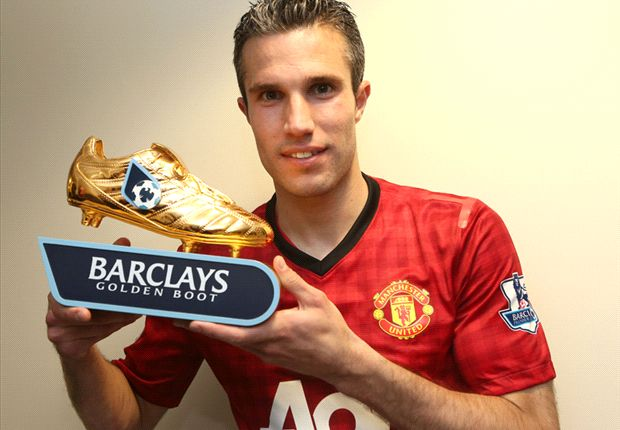 Van Persie has won his second Premier League Golden Boot Award
