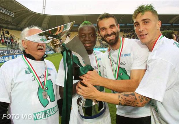 Yussif Raman Chibsah aided Sassuolo to move to the Serie A
