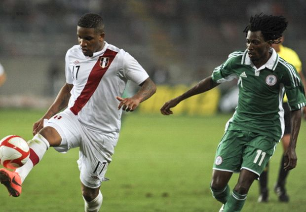 Nnamdi Oduamadi (r) has the opportunity to lay claim to a starting berth in the Super Eagles