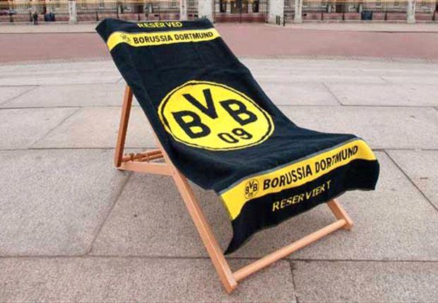 Dortmund jokingly lay club towels on deckchairs in London