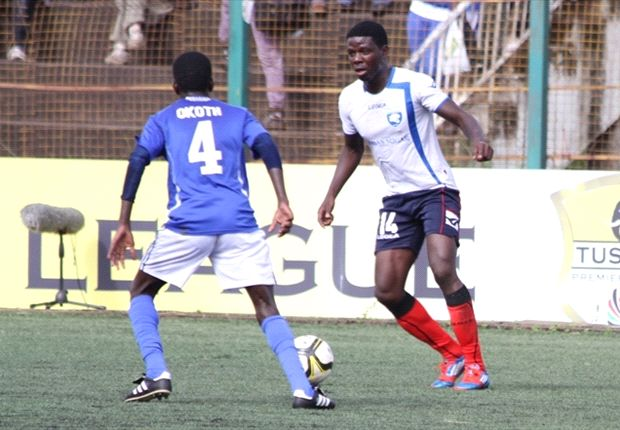 AFC Leopards striker Allan Wanga in action against Nairobi City Stars.