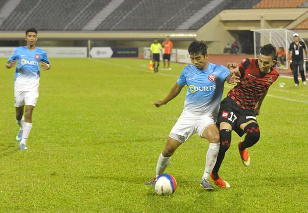 The Courts Young Lions battled hard to earn their first point of the season against Brunei DPMM