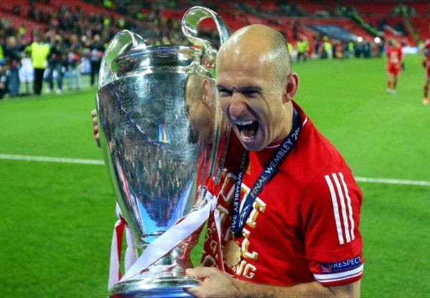 The Dutchman won the Champions League final for Bayern Munich late on at Wembley
