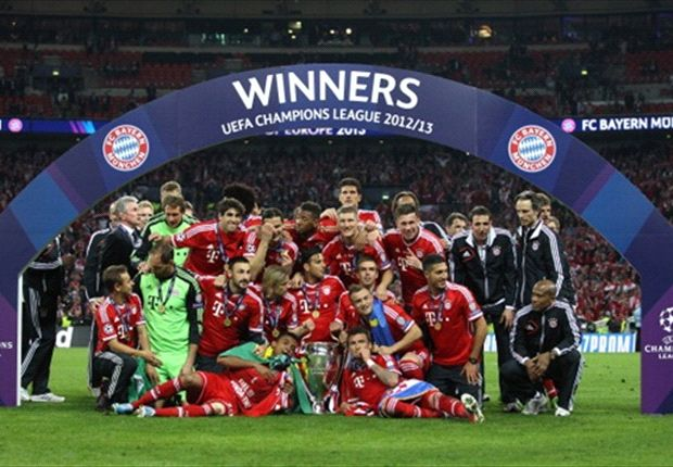 Der FC Bayern München feiert den Champions-League-Titel