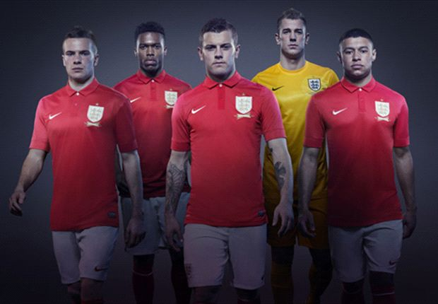 England unveil new red away kit