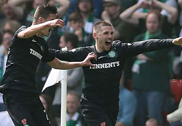 Hibernian 0-3 Celtic: Hooper & Ledley seal a double-winning season for Lennon's side