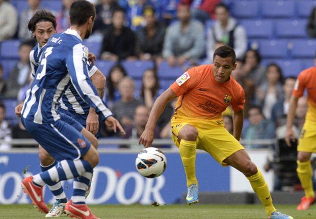 Alexis Sanchez war Torschütze beim Sieg vom FC Barcelona gegen den Lokalrivalen Espanyol