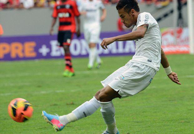 Neymar jugó su último partido en Santos y lo despidieron con una ovación inolvidable.