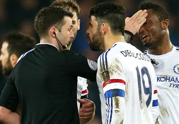 Diego Costa charged with improper conduct after Barry incident