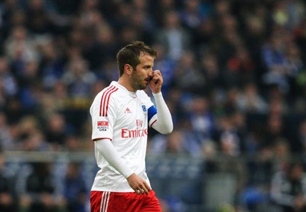 Sieht das Ziel Europa League erheblich in Gefahr: HSV-Mittelfeldregisseur Rafael van der Vaart