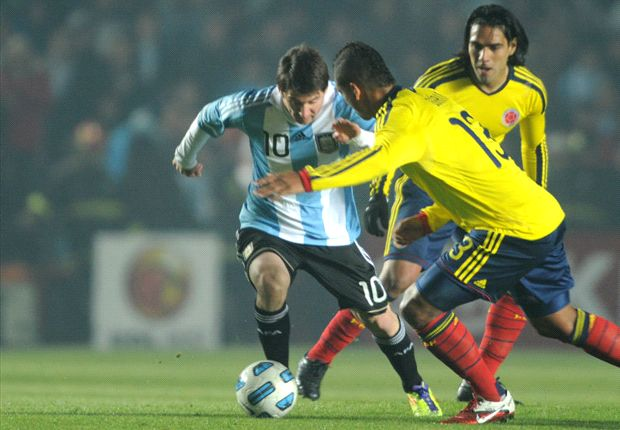Messi y Falcao, dos cracks.