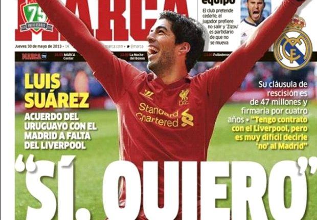 """Luis Suarez: """"Würde gerne einmal mit Ronaldo zusammen spielen"""""""